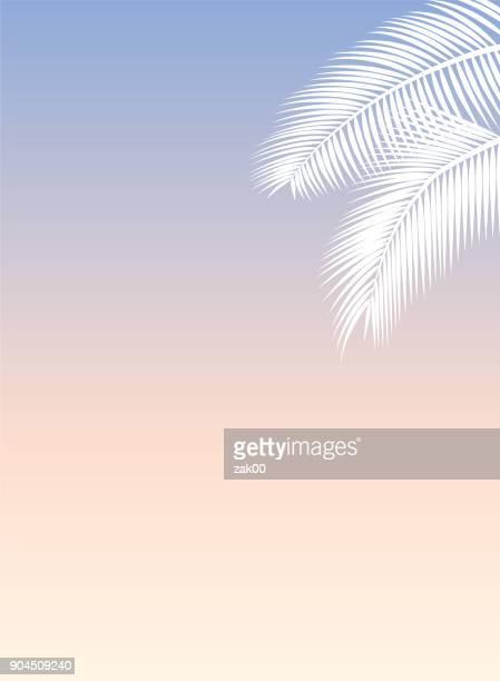 illustrations, cliparts, dessins animés et icônes de modèle de feuille de palmier - feuille de palmier