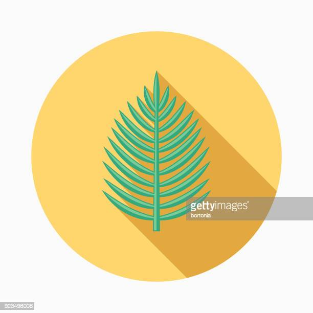 palm sunday flat design easter icon with side shadow - palm sunday stock illustrations