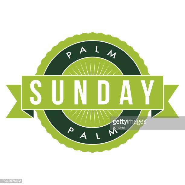 palm sunday - palm sunday stock illustrations