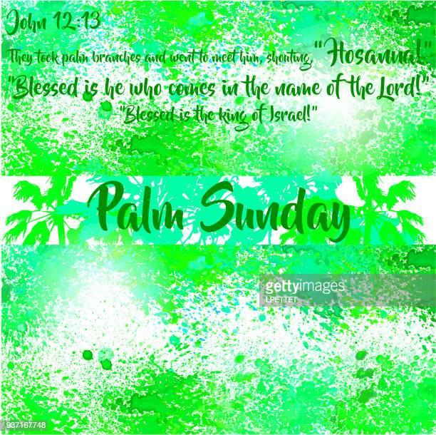 ilustrações, clipart, desenhos animados e ícones de palm e domingo - domingo de ramos