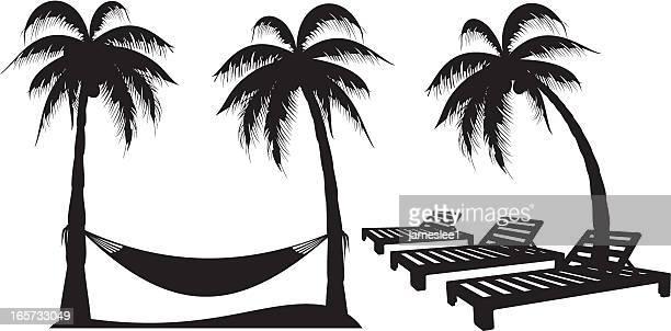 Palm Tree Design-Elemente