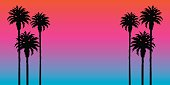 Palm Tree Sunset Background