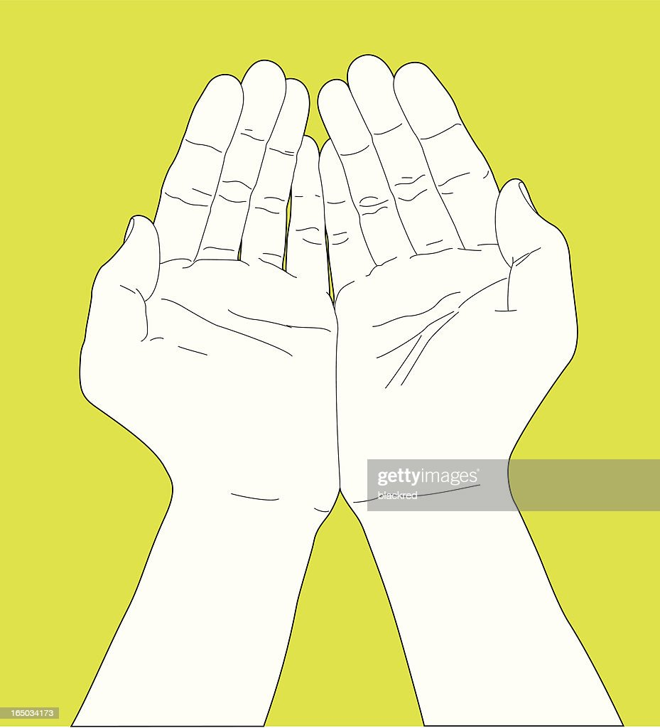Palms Together Hand Gesture