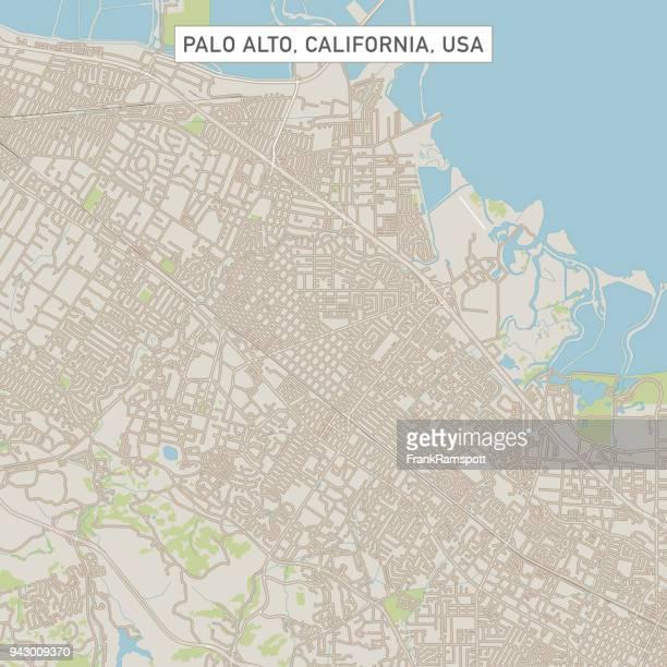 カリフォルニア州パロアルト米国街マップ - palo alto点のイラスト素材/クリップアート素材/マンガ素材/アイコン素材