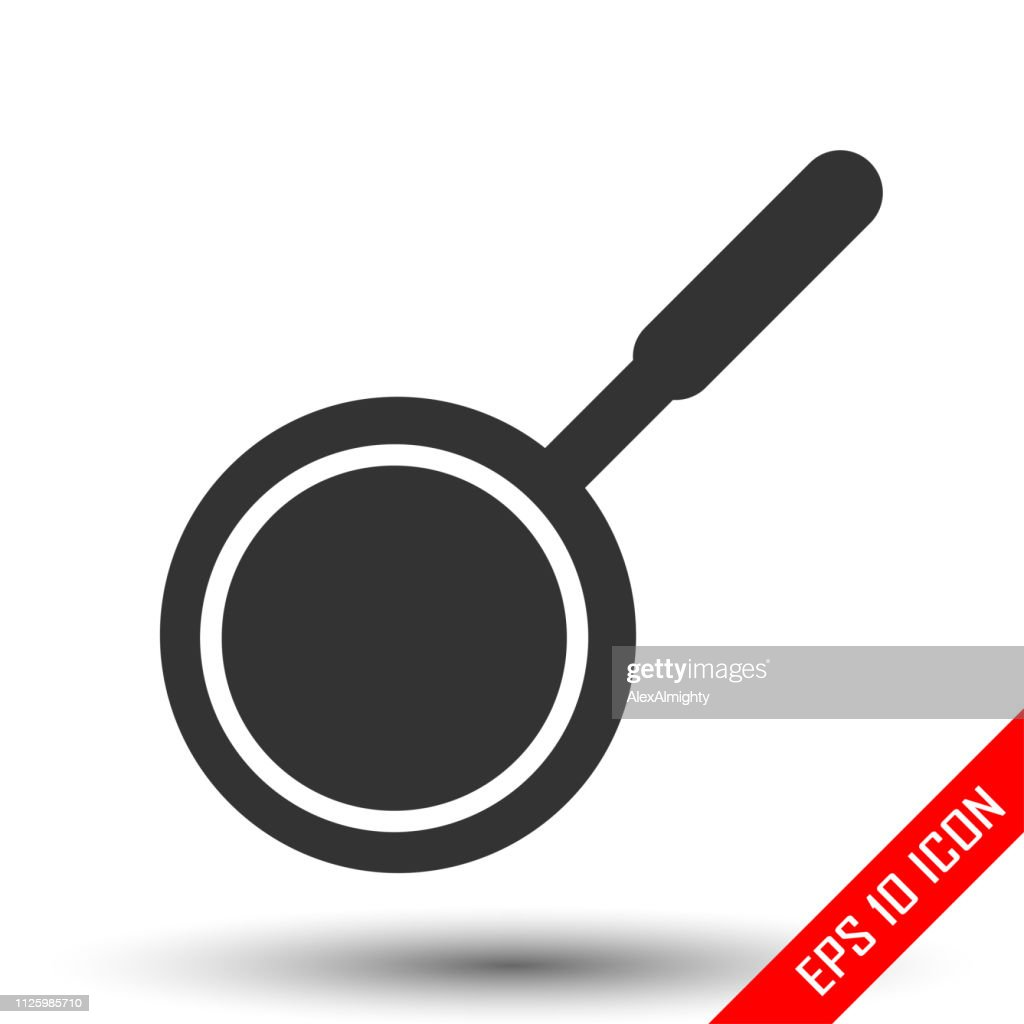 Pan icon. Pan sign. Simple flat logo of pan on white background. Vector illustration.