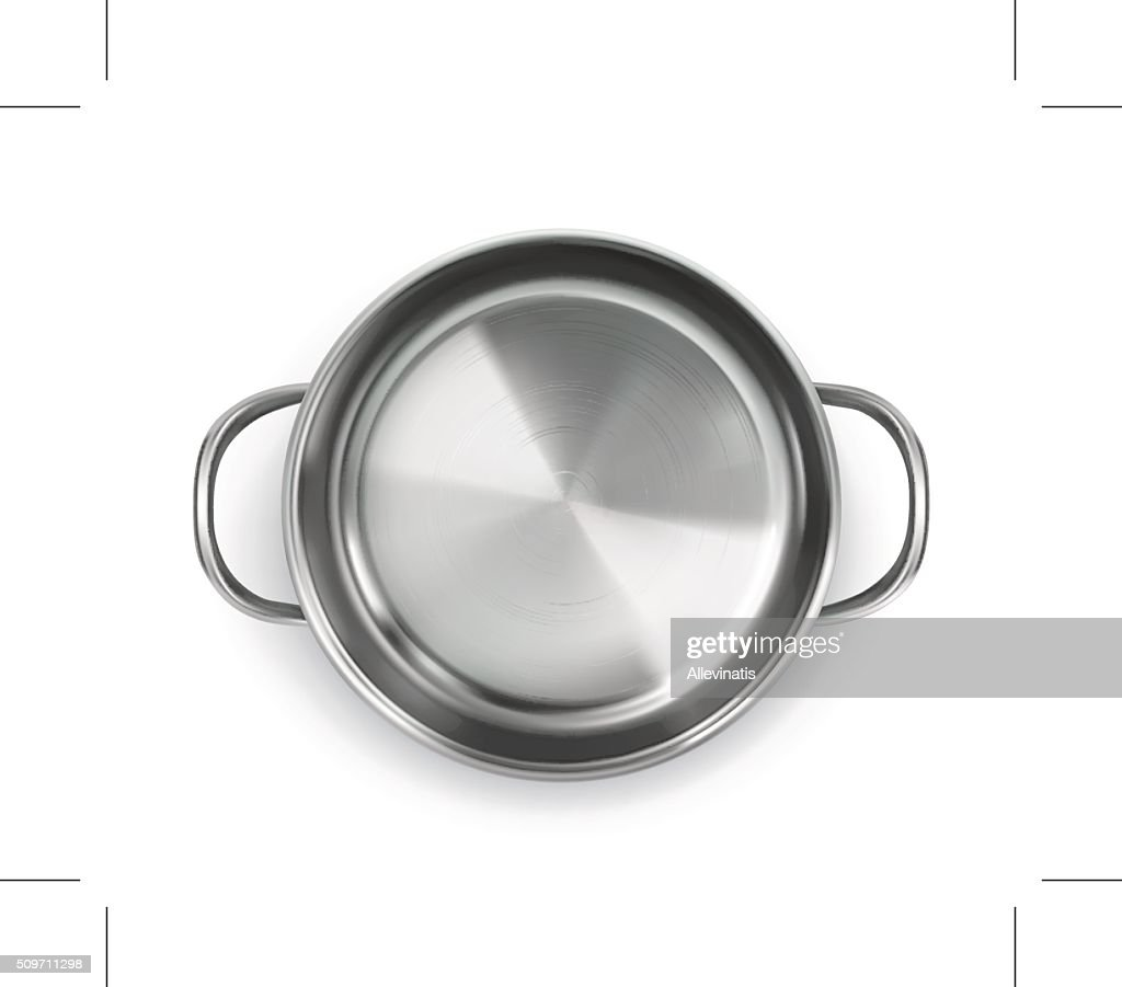 Pan, top view object