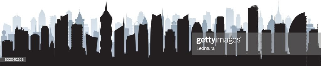 Panama City Skyline : stock illustration