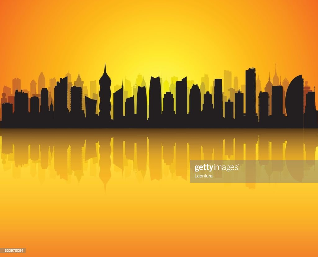 Panama City (All Buildings are Detailed and Complete) : stock illustration
