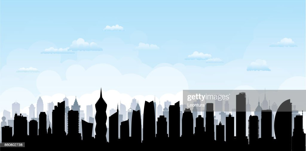 Panama City (All Buildings Are Complete and Moveable) : stock illustration
