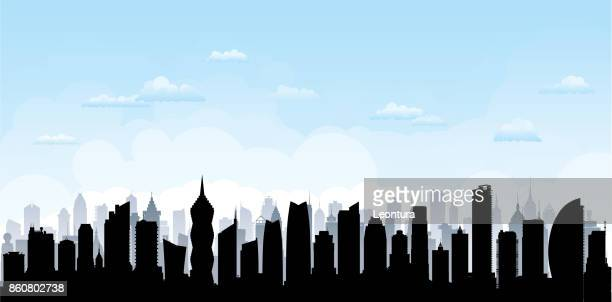 panama city (all buildings are complete and moveable) - panama city panama stock illustrations, clip art, cartoons, & icons