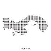 Panama dot halftone pattern map