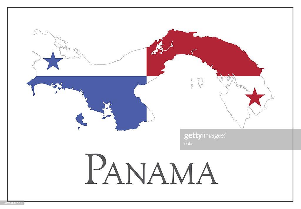 Panama Flag Map Vector Art Getty Images - Panama map vector