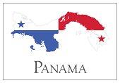 Panama flag map