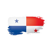 Panama flag, vector illustration on a white background.