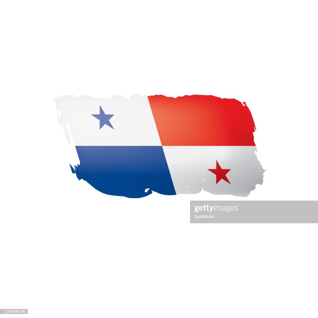 Panama flag, vector illustration on a white background.