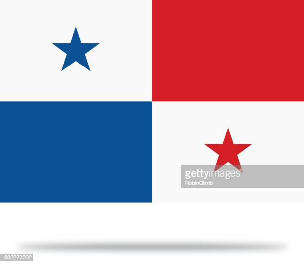Panama Flag With Shadow