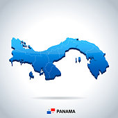 Panama - map and flag - Detailed Vector Illustration