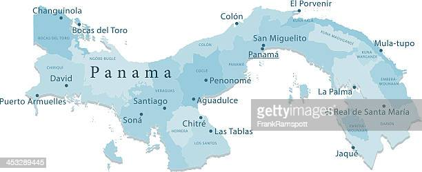 Panama Vector Map Regions Isolated
