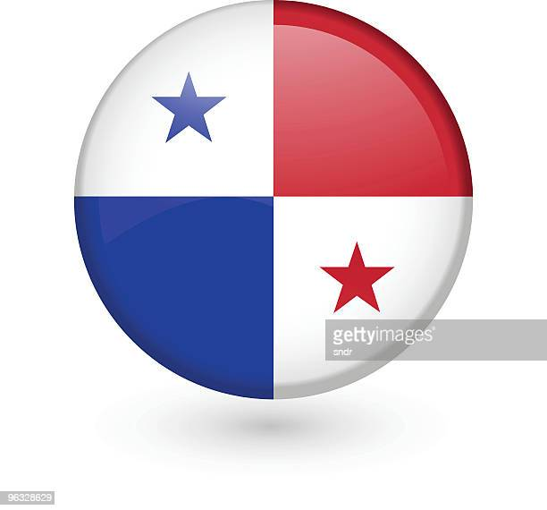 Panamanian flag vector button