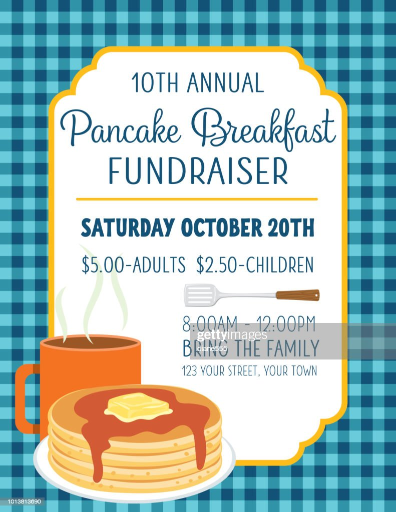 pancake breakfast poster template vector art getty images