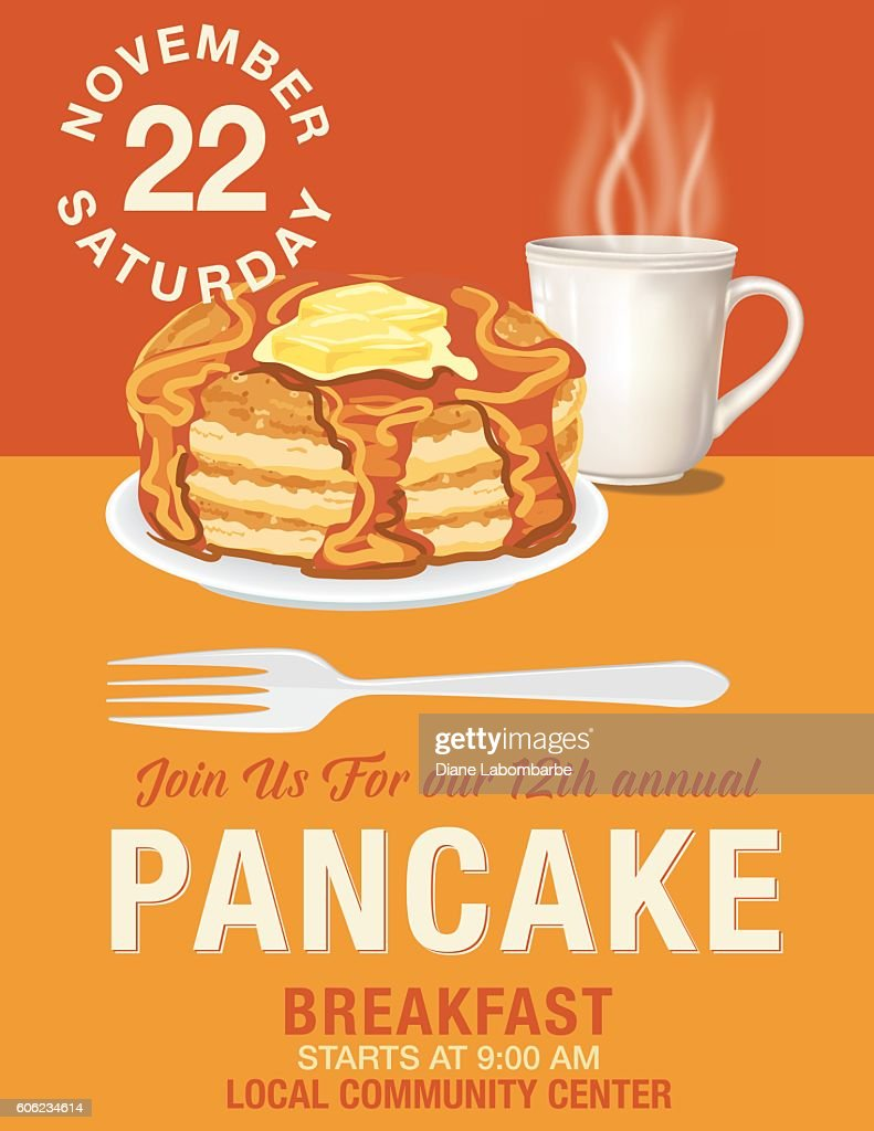 pancake breakfast flyer template