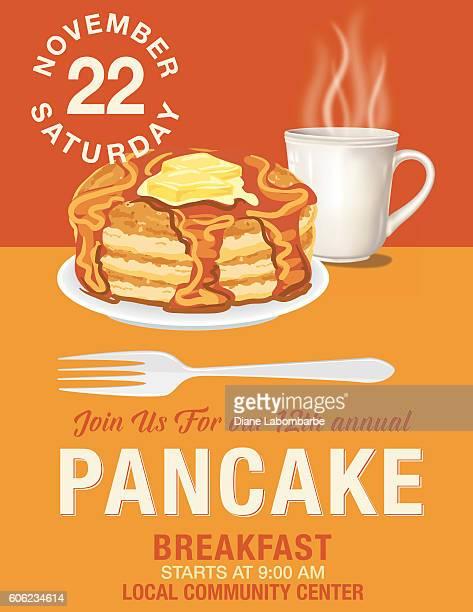 poster flyer for pancake breakfast fundraiser