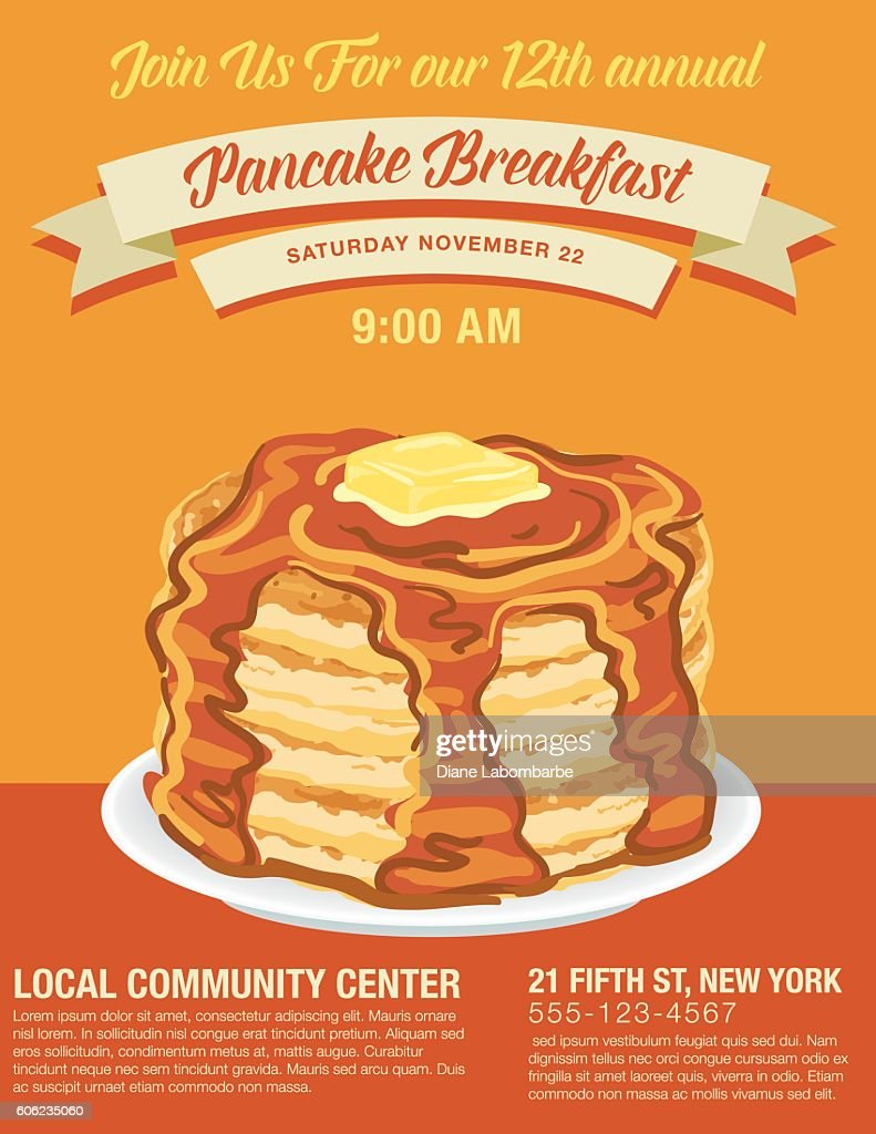 pancake breakfast fundraiser flyer template
