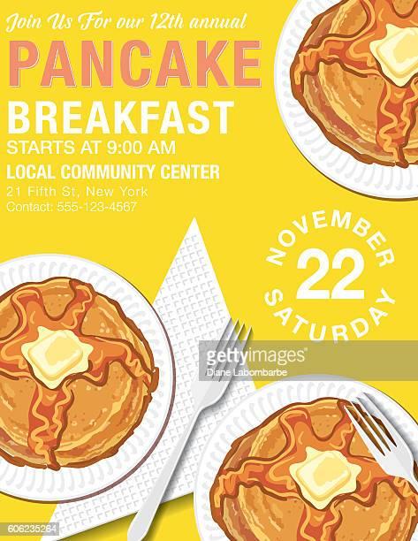 Pancake-Frühstück-Poster-Vorlage