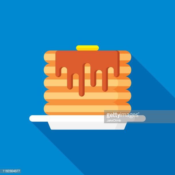 Pancakes Icon Flat