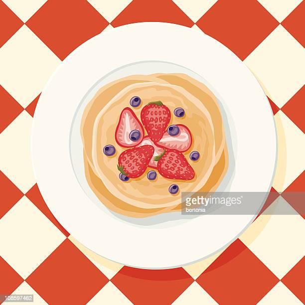パンケーキに配したベリー