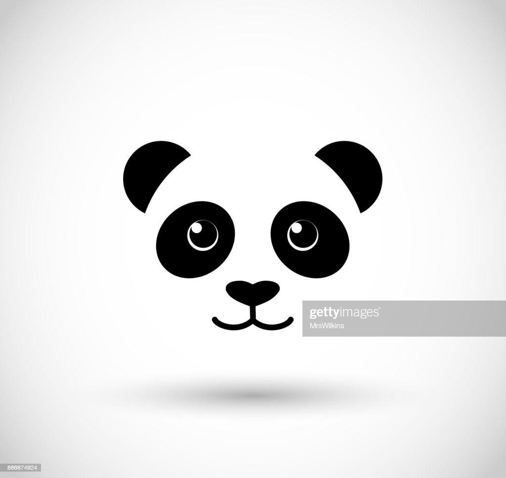 Panda face icon vector