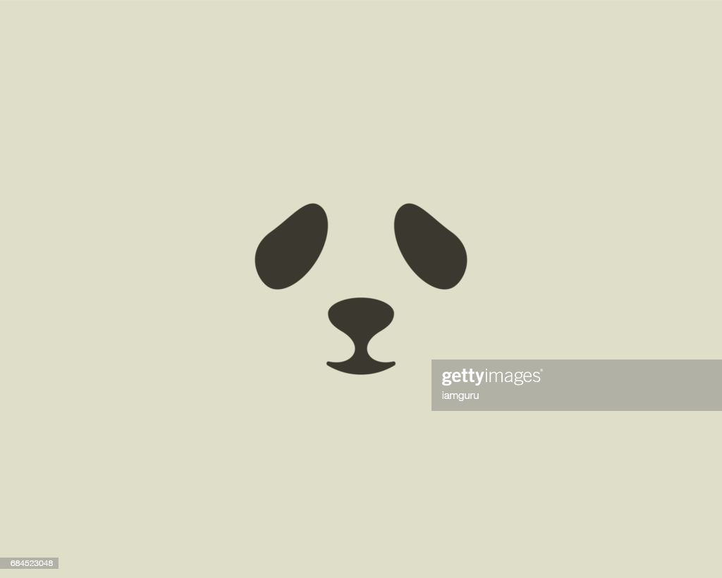 Panda face vector emblem. Seal emblemtype. Sea lion zoo symbol icon design