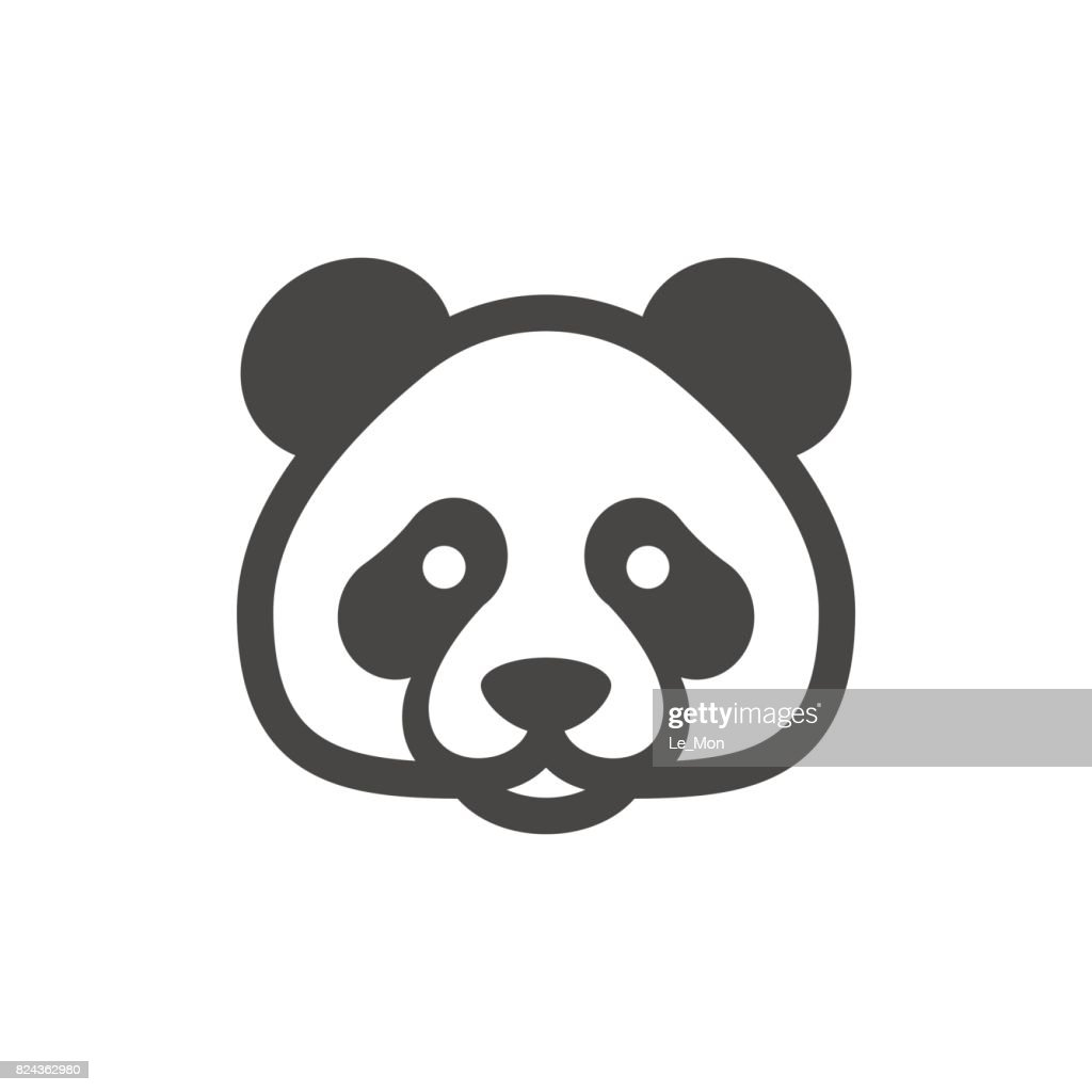 Panda Icon. Bamboo bear icon
