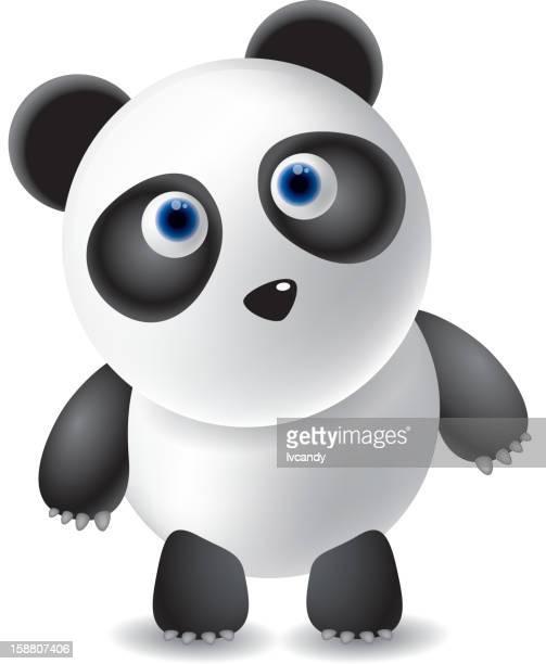 panda - panda animal stock illustrations