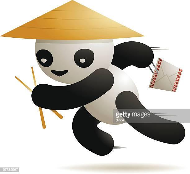 pandaxpress - chopsticks stock illustrations, clip art, cartoons, & icons
