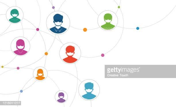 pandemic virus social spread - illness prevention stock illustrations