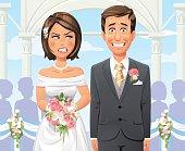 Panicking Groom At Outdoor Wedding Ceremony