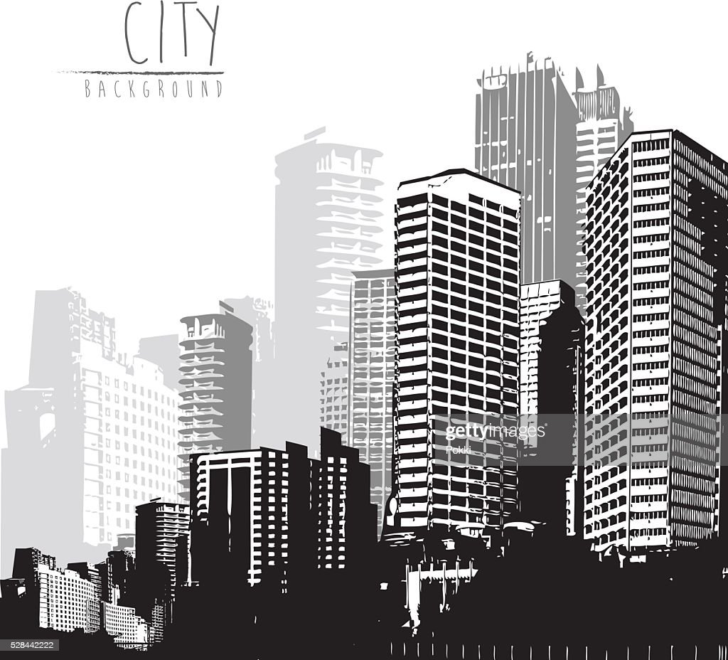 Panorama of cityscape with place for your text.
