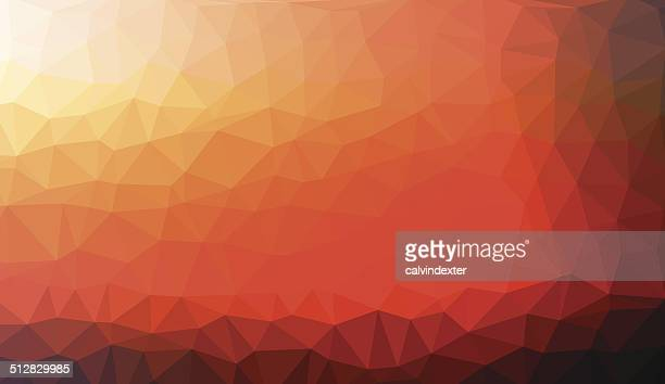 Panoramic abstract geometric background