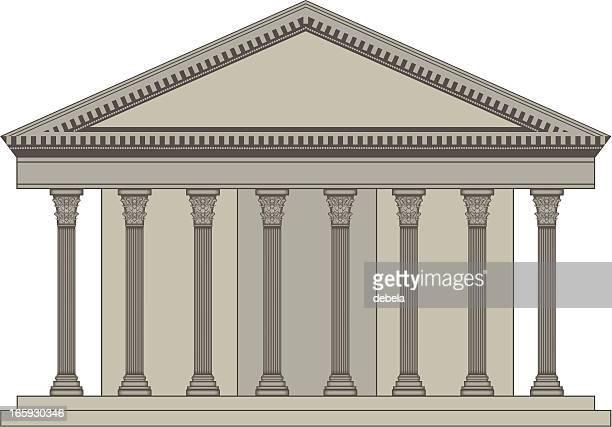pantheon - corinthian stock illustrations, clip art, cartoons, & icons