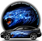 Panther Airbrush effect vector