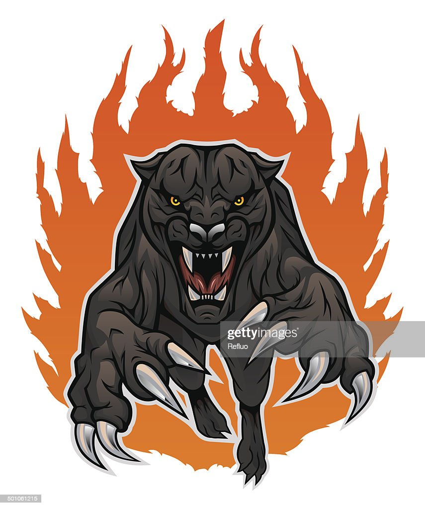 panther and fire
