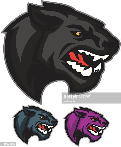 Panther Mascot Heads