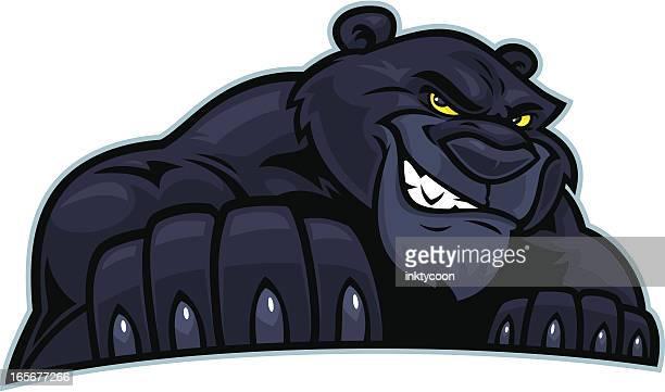 ilustraciones, imágenes clip art, dibujos animados e iconos de stock de panther posición - leopardo