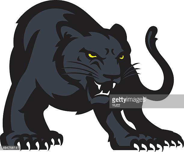 panther - fighting stance stock illustrations, clip art, cartoons, & icons