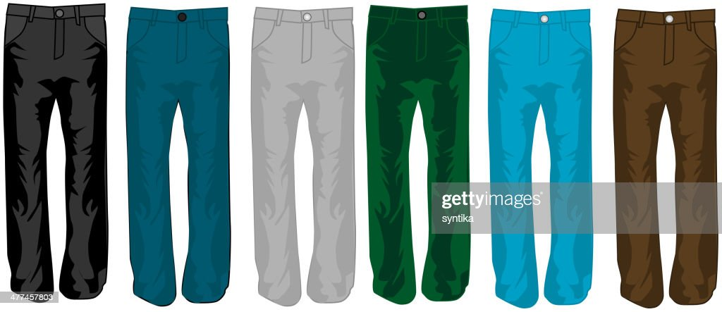 Pants color, illustration, vecor work