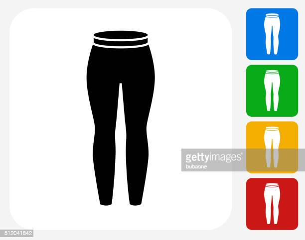 pants icon flat graphic design - leggings stock illustrations