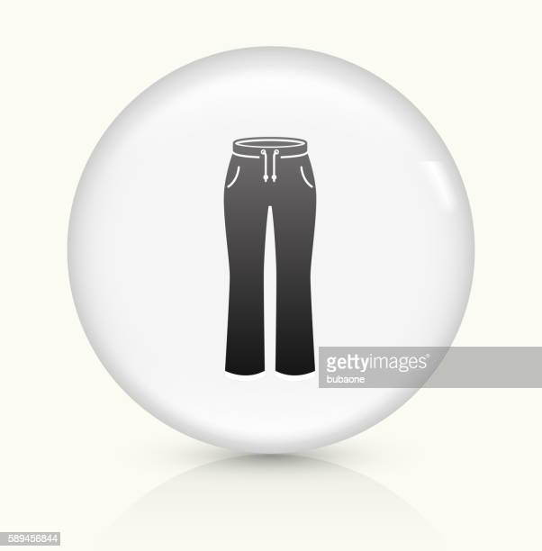 Pants icon on white round vector button