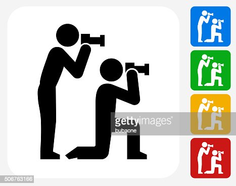 paparazzi icon flat graphic design vector art getty images