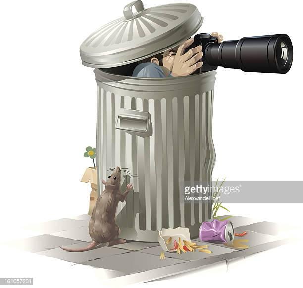 Paparazzi in Garbage Bin